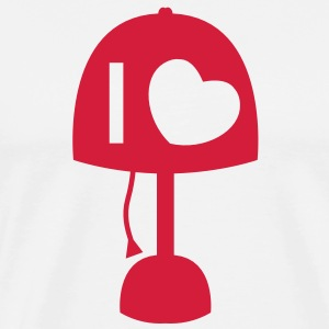 I LOVE LAMP with light and cord simple no words  Aprons - Men's Premium T-Shirt