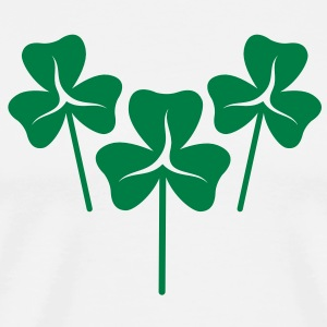 new SHAMROCKs three leaf clovers trio  Aprons - Men's Premium T-Shirt