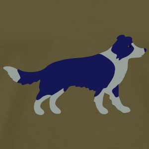 Border Collie Tasker - Herre premium T-shirt