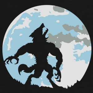 The werewolf in the moonlight Bags  - Men's Premium T-Shirt