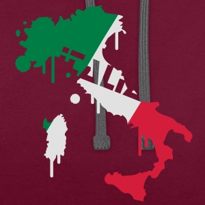 Map of Italy Design T-Shirts - Contrast Colour Hoodie