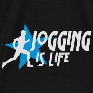 jogging is life male with star i 2c Bags  - Men's Premium T-Shirt