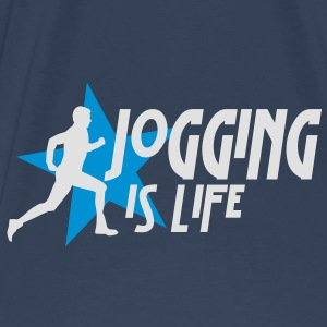 jogging is life male with star i 2c Tasker - Herre premium T-shirt