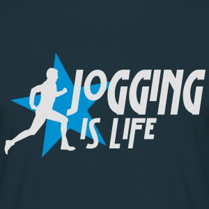 jogging is life male with star i 2c Gensere - T-skjorte for menn
