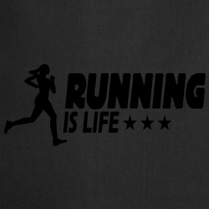 running is life female ii 1c Caps & Mützen - Kochschürze
