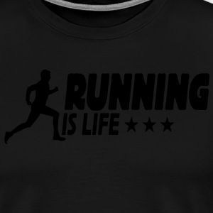 running is life male ii 1c Hosen & Shorts - Männer Premium T-Shirt
