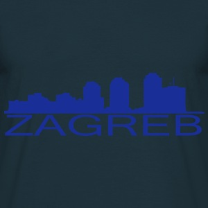 Zagreb skyline - T-skjorte for menn