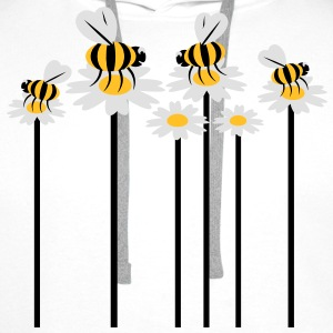 growing_flowers_with_bees T-shirts - Premiumluvtröja herr
