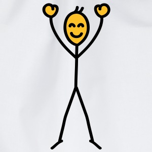 happy_stick_figure T-shirts - Gymtas