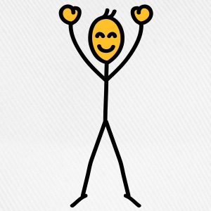 happy_stick_figure T-skjorter - Baseballcap