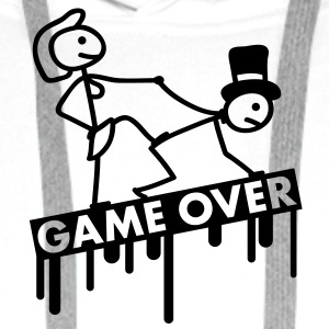bachelor_party_game_over T-shirts - Mannen Premium hoodie