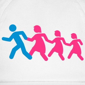 running_family_with_two_girls T-shirt - Cappello con visiera