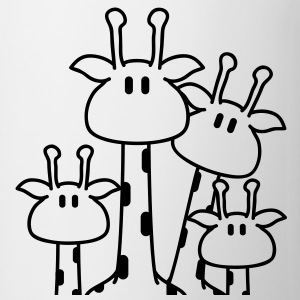 cute_giraffe_family T-shirts - Kop/krus