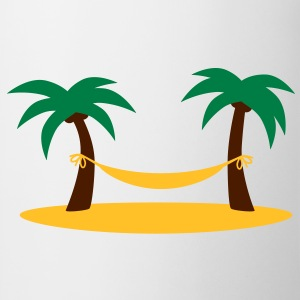 island_palms_and_hammock Camisetas - Taza