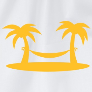 island_palms_and_hammock T-shirts - Gymtas