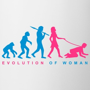 evolution_of_woman Magliette - Tazza