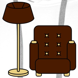 floor_lamp_and_armchair T-skjorter - Premium hettegenser for menn