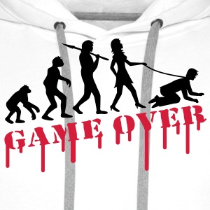 game_over_bachelor_party T-skjorter - Premium hettegenser for menn