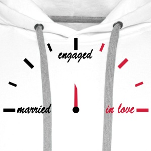 in_love_engaged_married T-Shirts - Männer Premium Hoodie