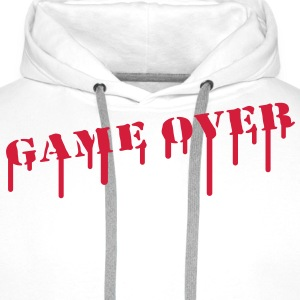 game_over_paint T-shirts - Mannen Premium hoodie