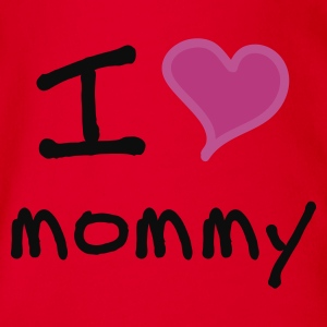 I love mommy - Baby Bio-Kurzarm-Body