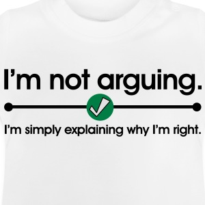Not Arguing Sweats Enfants - T-shirt Bébé