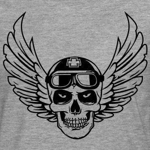 Flying Skull - Men's Premium Longsleeve Shirt