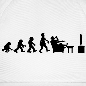 evolution_of_couch_potato T-shirts - Basebollkeps