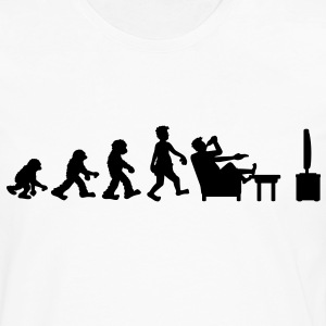 evolution_of_couch_potato Camisetas - Camiseta de manga larga premium hombre