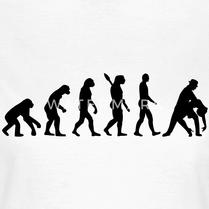 Evolution Tanzen T-Shirts - Frauen T-Shirt