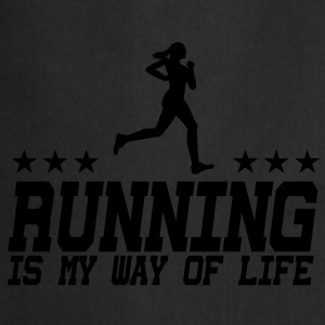 running is my way of life female 1c Pullover & Hoodies - Kochschürze
