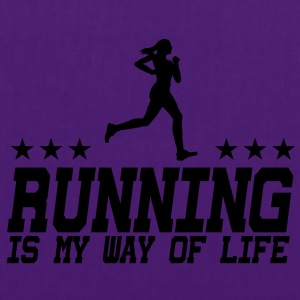 running is my way of life female 1c Pullover & Hoodies - Stoffbeutel