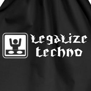 legalize techno Hoodies & Sweatshirts - Drawstring Bag
