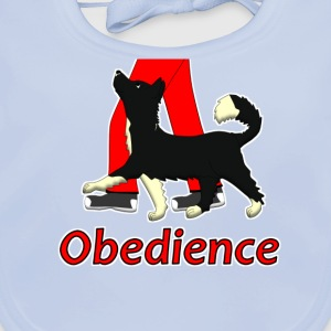 Obedience 1 Border Collie 1 T-shirt bambini - Bavaglino
