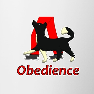 Obedience 1 Border Collie 1 T-shirts - Kop/krus