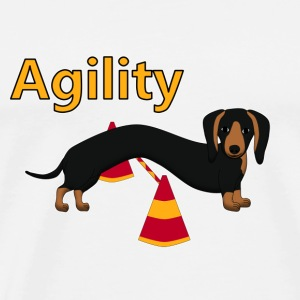 Agility Teckel Sweaters - Mannen Premium T-shirt