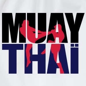 Muay thai logo full Hoodies & Sweatshirts - Drawstring Bag
