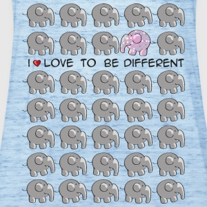 I love to be different - elephant Kids' Shirts - Women's Tank Top by Bella
