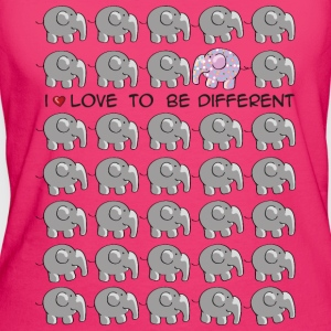 I love to be different - elephant Borse - T-shirt ecologica da donna