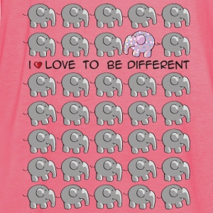 I love to be different - elephant Laukut - Naisten tankkitoppi Bellalta