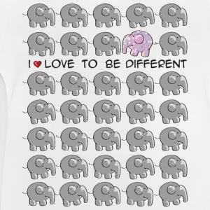 I love to be different - elephant Kids' Shirts - Baby T-Shirt