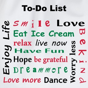 To Do List - enjoy life T-Shirts - Turnbeutel