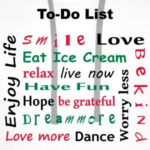 To Do List - enjoy life T-Shirts - Bluza męska Premium z kapturem