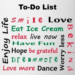 To Do List - enjoy life T-Shirts - Kubek
