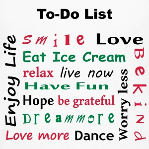 To Do List - enjoy life T-Shirts - Männer Premium Langarmshirt