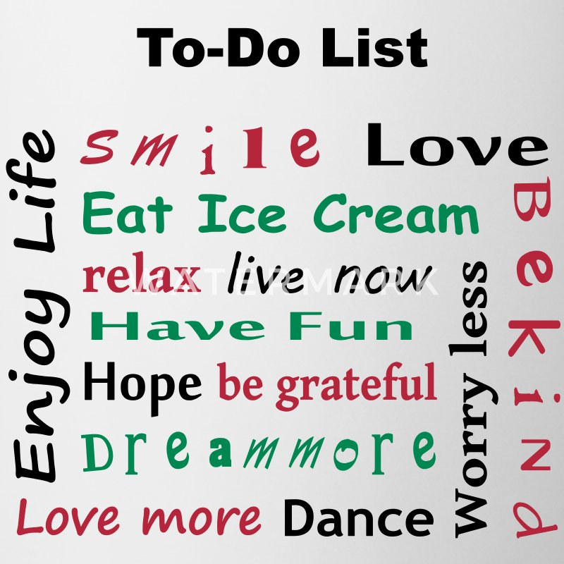 To Do List - enjoy life - Mugg