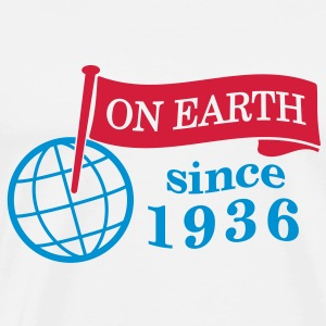 flag on earth since 1936  2c (dk) Sweatshirts - Herre premium T-shirt