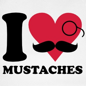 I love mustaches T-Shirts - Baseball Cap