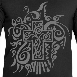cross tribal T-Shirts - Men's Sweatshirt by Stanley & Stella