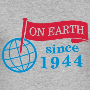 flag on earth since 1944  2c (dk) Sweatshirts - Herre Slim Fit T-Shirt